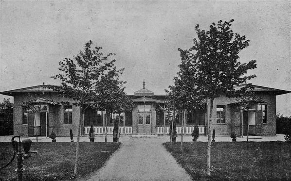 Die Kuranstalt Berolinum an der Lankwitzer Leonorenstraße. Ehemalige Kranken -Pavillons.