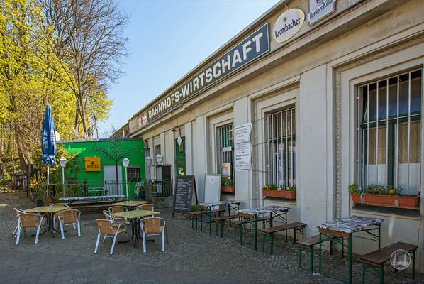 Stellwerk Lio in Berlin Lichterfelde - Ost. Ansicht der Bahnhofswirtschaft.