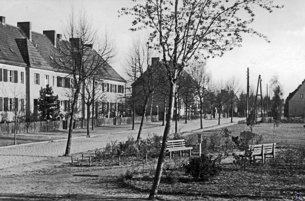 Die Erich-Klausener-Straße in den 1960er Jahren.