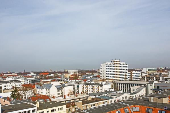 Dach der Lützowstraße. Siegessäule und Vattenfall - Gebäude