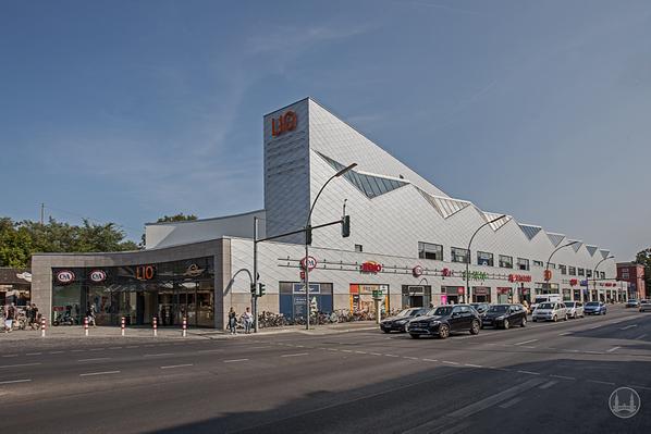 """Stellwerk Lio in Berlin Lichterfelde - Ost.  Das Shopping - Center """"Lio""""."""