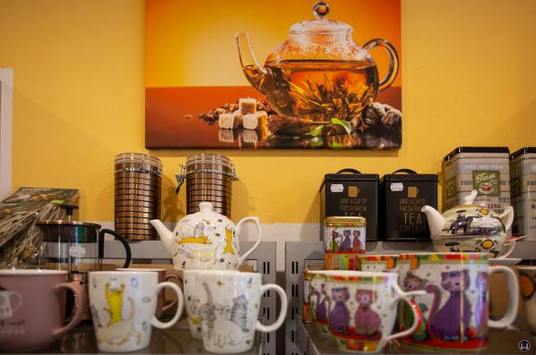 Detailansicht des Zubehörs für Teetrinker.