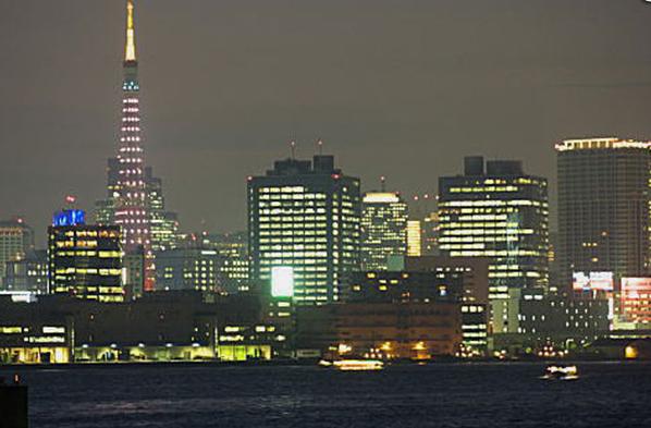屋形船から見る東京の夜景