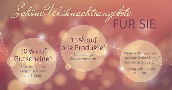 Weihnachts Angebote Kosmetikstudio Hautnah Leun