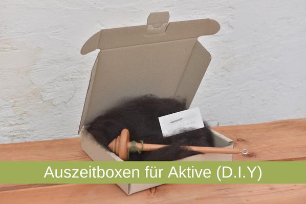 Auszeitbox, D.I.Y., Spinnen, Filzen, Stricken, Handwerk,  Filzbox, Spinnbox, Strickbox