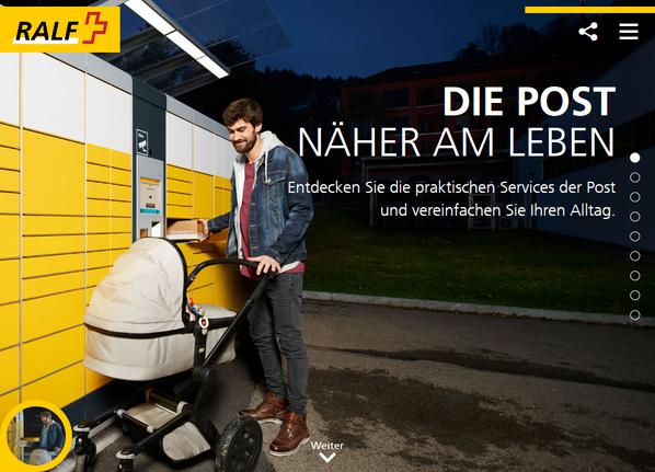 Sogar die Webseite meinepost.ch lässt sich personalisieren. So ist die Kampagne on- und offline ganzheitlich schlüssig.