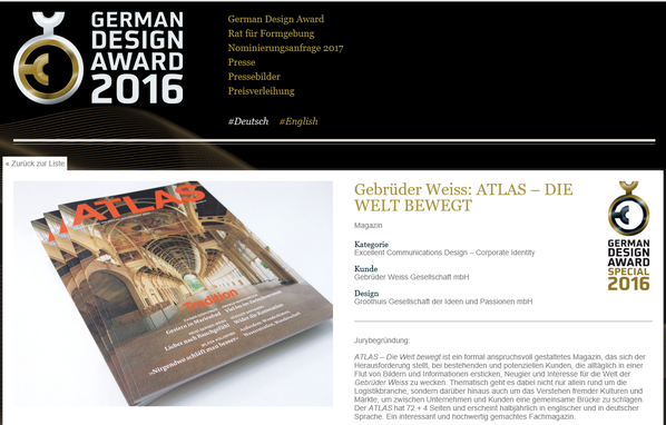 Preisträger beim German Design Award 2016