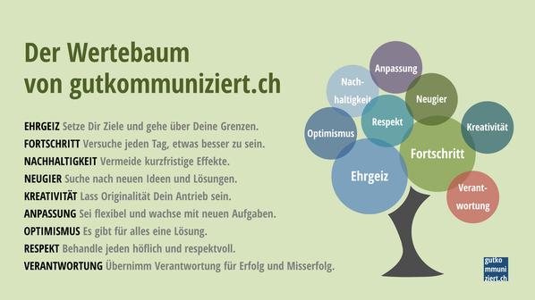 Diese Werte sollen die gutkommuniziert.ch-Projektarbeit prägen.