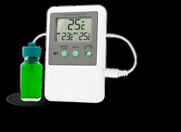 Termómetro digital para refrigerador o congelador con certificado trazable a NIST 4127
