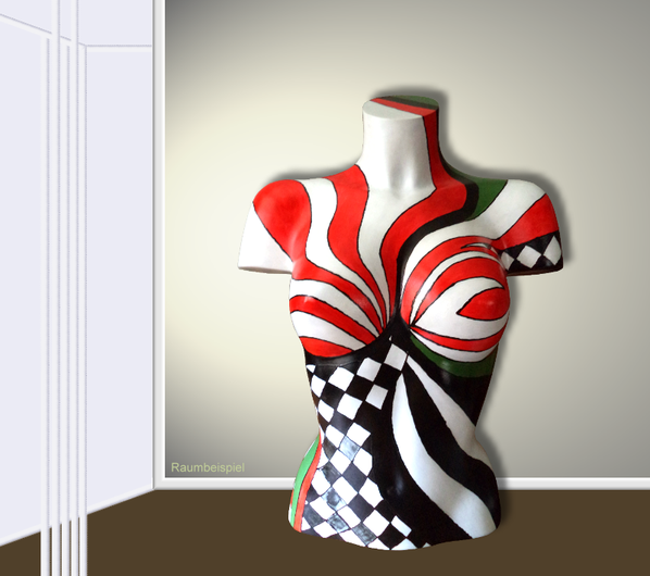Torso 13 / 59, Skulptur, bunt, abstrakt, Art, Kunst, Malerei, Original, Unikat, Kunststoff, Acryl, Raumbeispiel