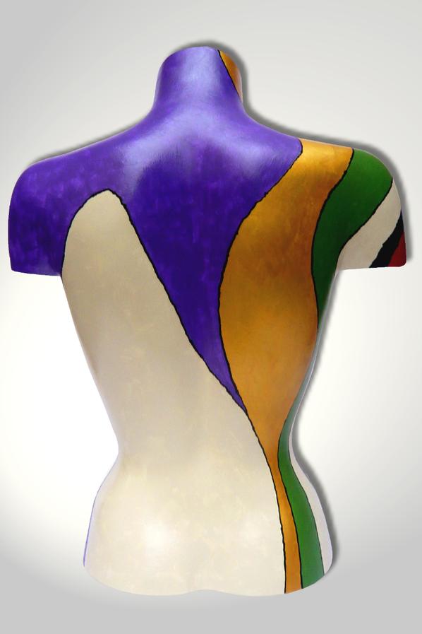 Torso 12 / 18, Skulptur, bunt, abstrakt, Art, Kunst, Malerei, Original, Unikat, Kunststoff, Acryl, Rücken
