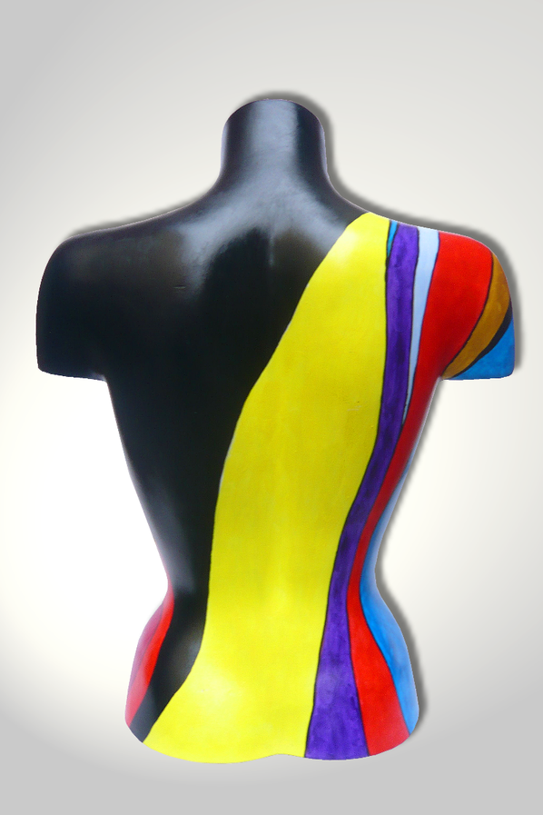 Torso 12 / 8, Skulptur, Kletterer, bunt, abstrakt, Art, Kunst, Malerei, Original, Unikat, Kunststoff, Acryl, hinten