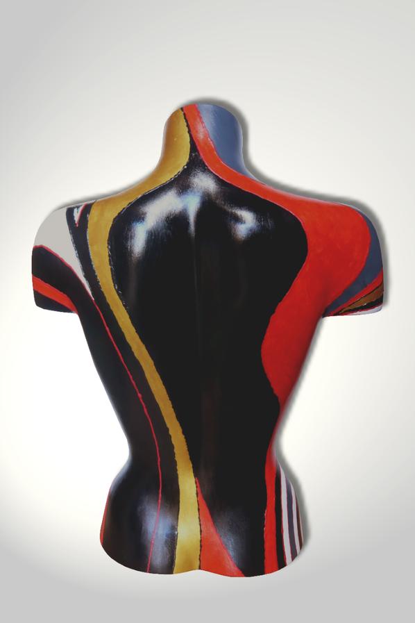 Torso 13 / 34, Skulptur, bunt, abstrakt, Art, Kunst, Malerei, Original, Unikat, Kunststoff, Acryl, Rücken