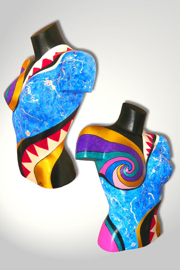 Torso 13 / 54, Skulptur, bunt, abstrakt, Art, Kunst, Malerei, Original, Unikat, Kunststoff, Acryl, Seite