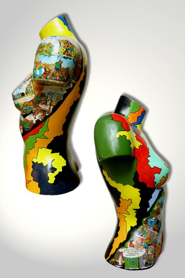 Torso 13 / 42, Skulptur, Collage, bunt, abstrakt, Art, Kunst, Malerei, Original, Unikat, Kunststoff, Acryl, Seite