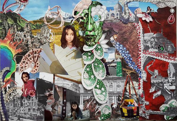 Planche de Tendance  Adler Voyage Extraordinaire d'une petite fille au pays des Pierres Précieuses, creation Hervé Arnoul