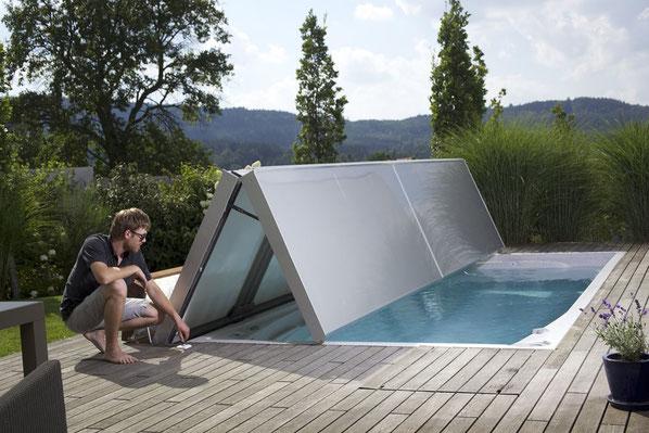 swimm spa mit automatischer isolierabdeckung