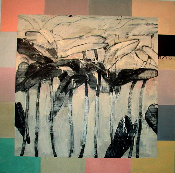 """""""Hagi 2003"""", 2003, Öl auf Leinen, 190 x 190 cm"""