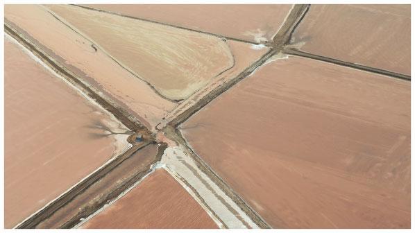 Marais salants au sud de Walvis Bay ; Namibie
