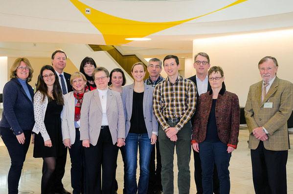 Clariant Kulturteam und die beiden Vertreter der AGFFM (ganz rechts) © Friedhelm Herr/FRANKFURT MEDIEN.net