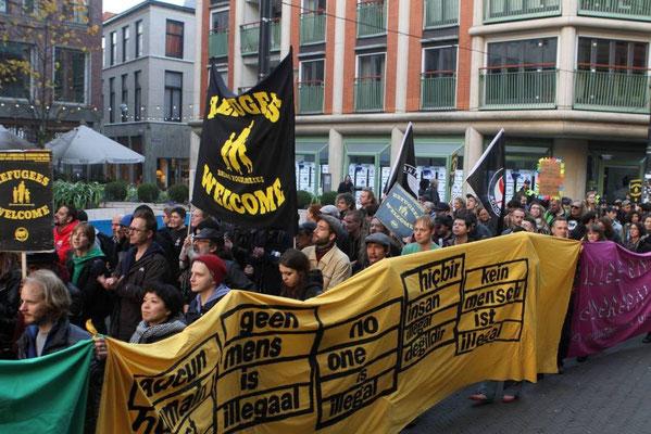 Antiracistisk demo i Den Haag, d. 1. november 2015