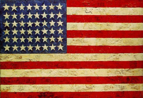 ジャスパー・ジョーンズ《旗》1954-55年