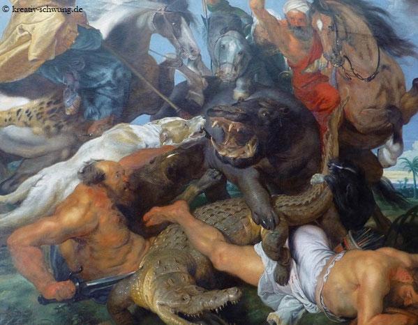 Nilpferdjagd, Rubens, A.P. München, Foto: privat