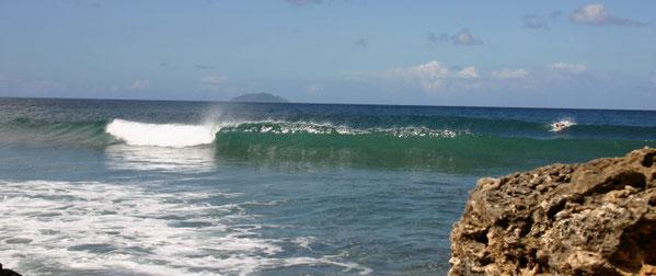 domes, surf, beach