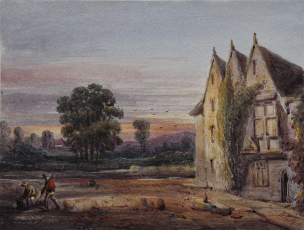 Karl Lang Archiv Büsingen William Williams of Plymouth Aquarell watercolor