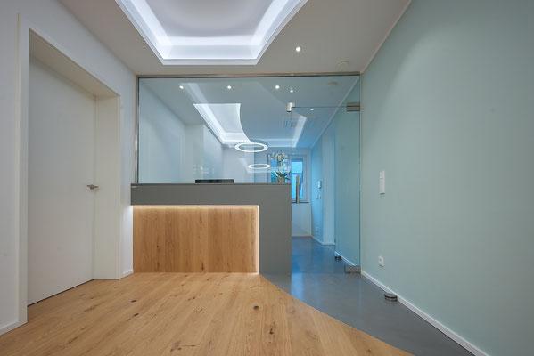 Kanzlei - Entwurf - Interior Design - Rezeption - Innenarchitekt - Göttingen - Lichtplanung