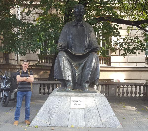 Памятник Н. Тесла у тех университета Белграда 19.10.18
