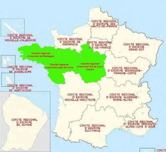 Zones Escrime FFE 2017-2020
