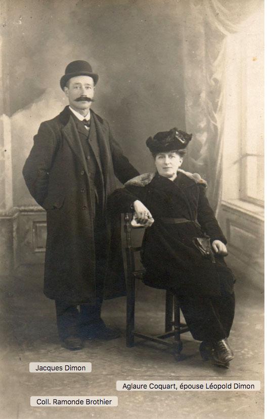 Léopold Dimon et sa femme Aglaure Adrienne Boyer