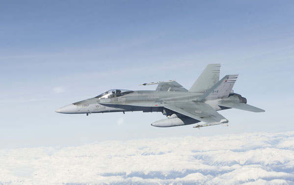 "CF-18A ""Hornet"" in servizio con la RCAF (Foto: Royal Canadian Air Force)"