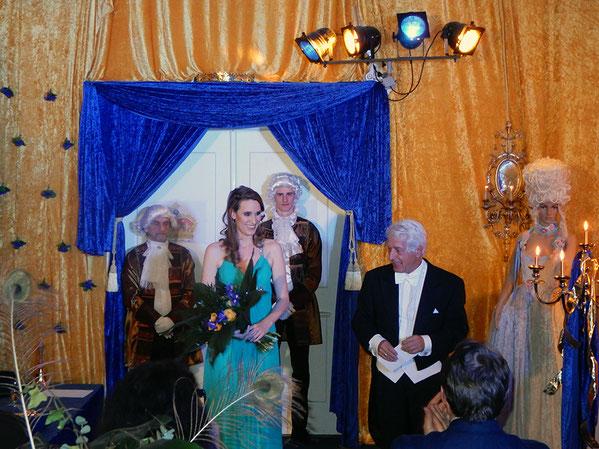 Sopranistin Barbara Winter zu einer privaten Veranstaltung im Barocksaal München