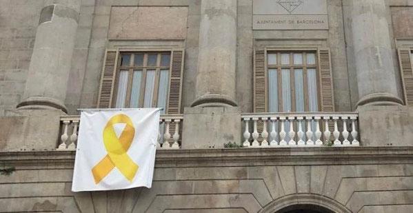 Желтая ленточка в Барселоне что означает