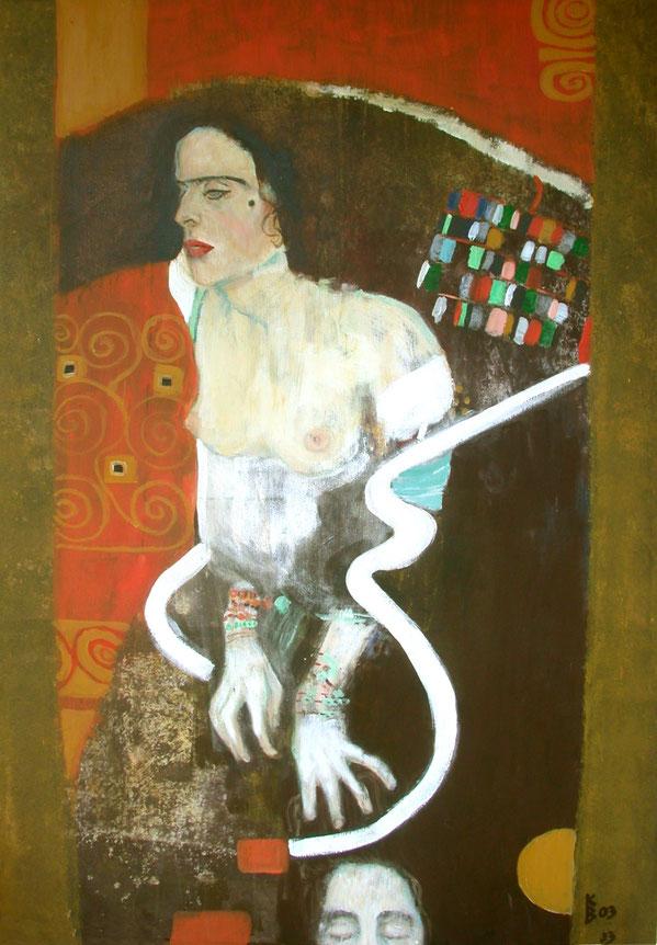 Judith, 2003, Acryl auf Leinwand, 100 x 160 cm