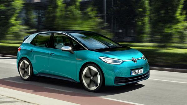 Der VW ID.3 ist ein kompakter, fünfsitziger Elektrowagen (Bild: Volkswagen)