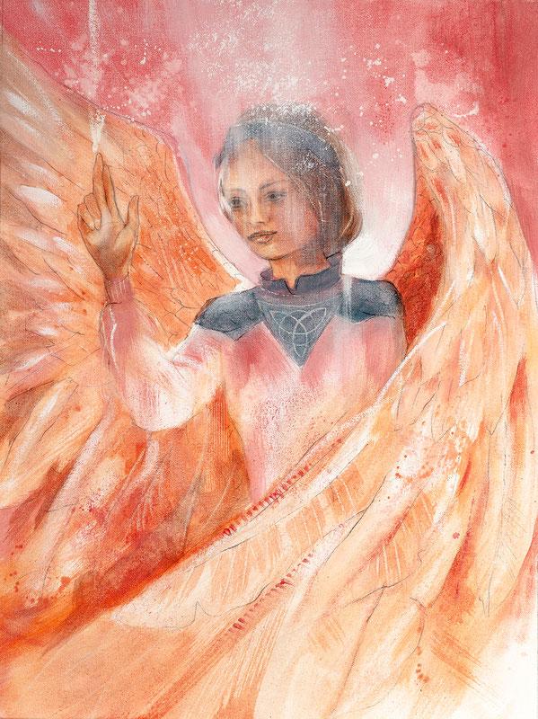 Engelbild - Schutzengel / Göttliche Führung, Jana Haas, Engelkartendeck Ein Engel für dich Arkana Verlag