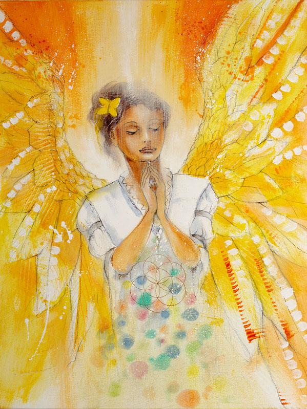 Engelbild - Engel der Kreativität / Innehalten Stille, Jana Haas, Engelkartendeck Ein Engel für dich Arkana Verlag