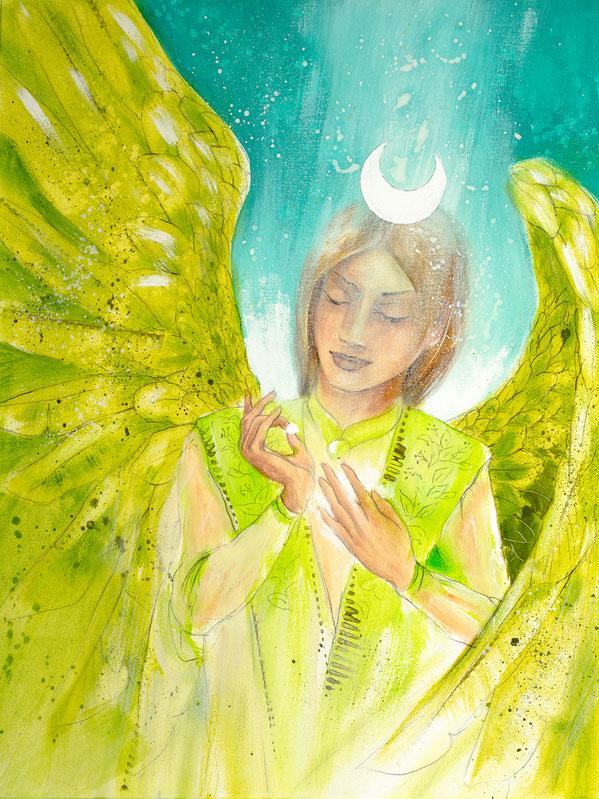 Engelbild Engel der Heilung / Wachstum, Jana Haas, Engelkartendeck Ein Engel für dich Arkana Verlag