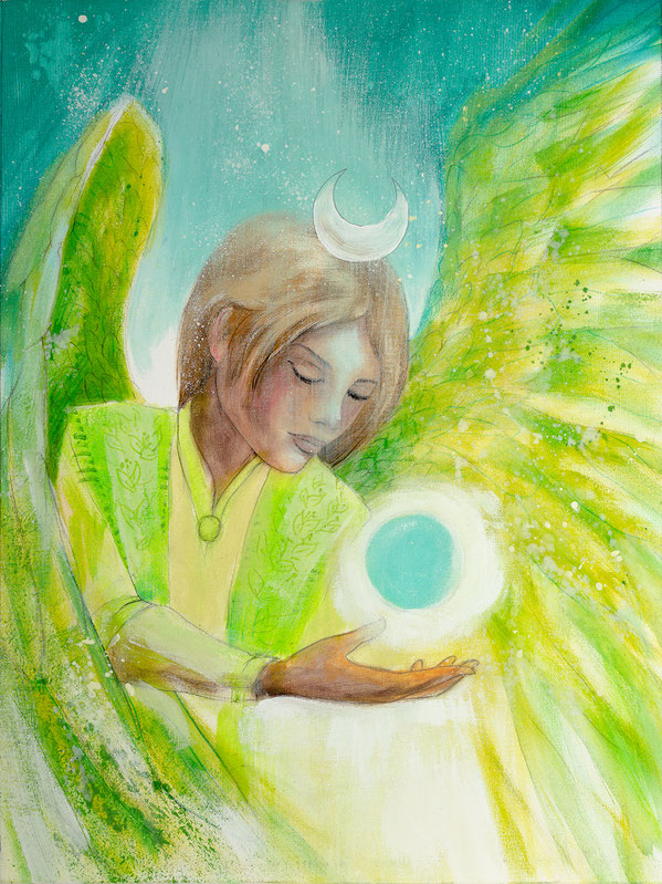 Engelbild Engel der Heilung / Einklang aller Wesen, Jana Haas, Engelkartendeck Ein Engel für dich Arkana Verlag