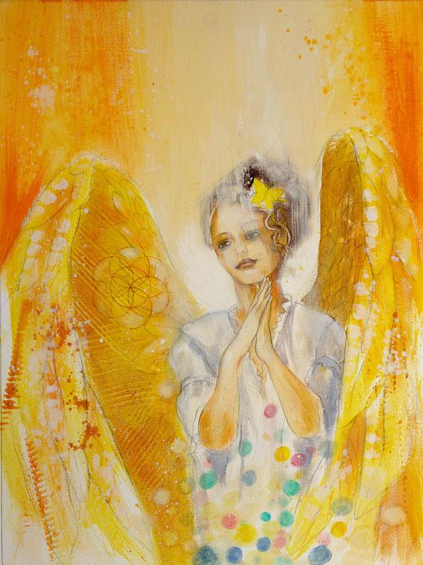 Engelbild - Engel der Kreativität / Ermutigung, Jana Haas, Engelkartendeck Ein Engel für dich Arkana Verlag