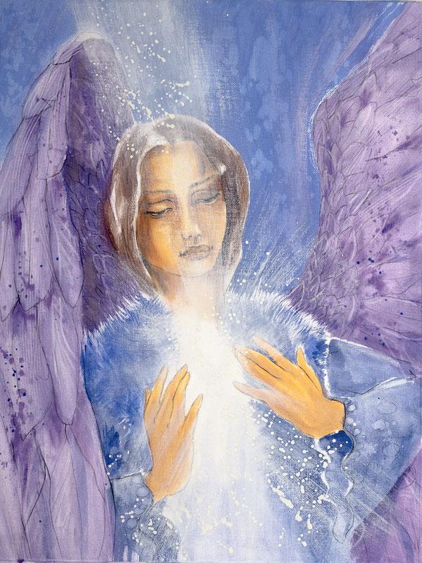 Engelbild von Jopie - Engelbild - Engel der Versöhnung / Freundschaft, Jana Haas, Engelkartendeck Ein Engel für dich Arkana Verlag