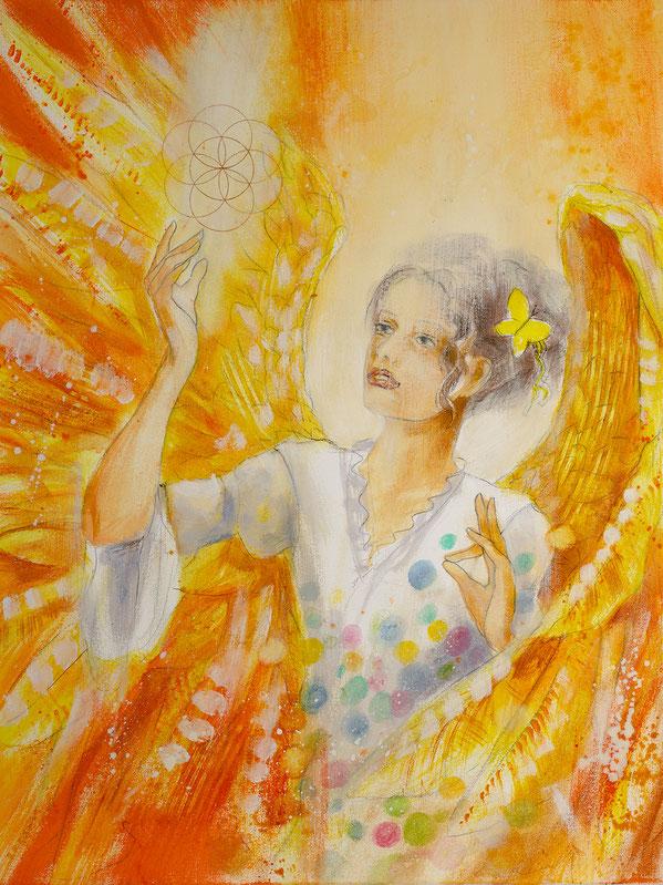 Engelbild - Engel der Kreativität / Himmlische Zeichen, Jana Haas, Engelkartendeck Ein Engel für dich Arkana Verlag