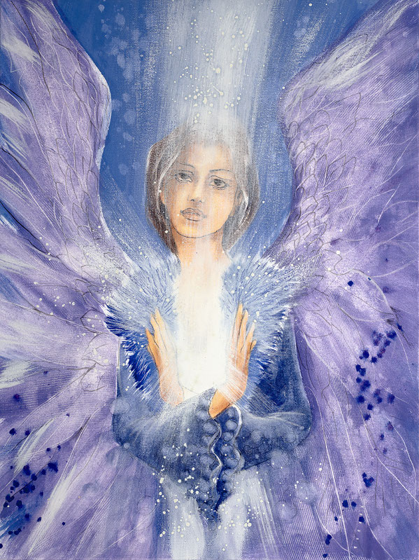 Engelbild von Jopie - Engelbild - Engel der Versöhnung / Achtsamkeit, Jana Haas, Engelkartendeck Ein Engel für dich Arkana Verlag