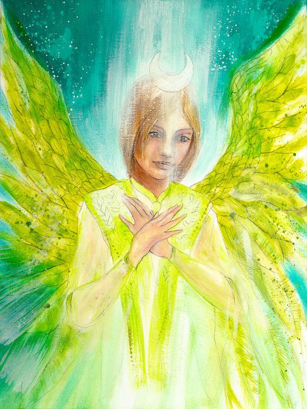 Engelbild Engel der Heilung / lichtvolles Herz, Jana Haas, Engelkartendeck Ein Engel für dich Arkana Verlag