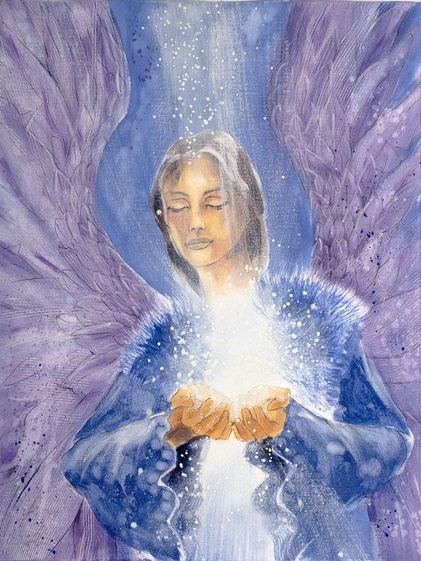 Engelbild von Jopie - Engelbild - Engel der Versöhnung / Verständnis, Jana Haas, Engelkartendeck Ein Engel für dich Arkana Verlag