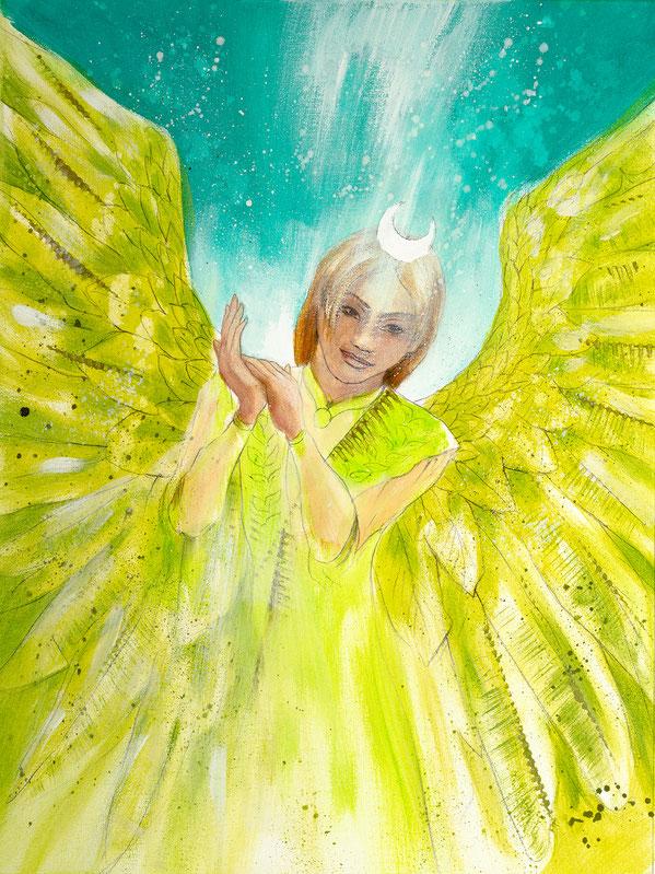 Engelbild Engel der Heilung / Segnung, Jana Haas, Engelkartendeck Ein Engel für dich Arkana Verlag