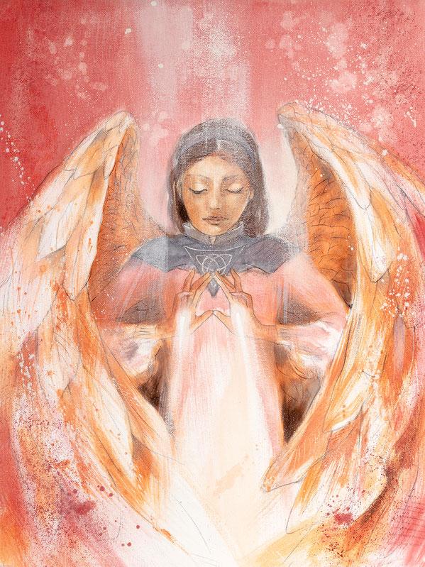 Engelbild - Schutzengel / Licht der Liebe, Jana Haas, Engelkartendeck Ein Engel für dich Arkana Verlag
